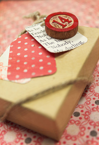 Bingo Chip Valentine's Day Gift Tag