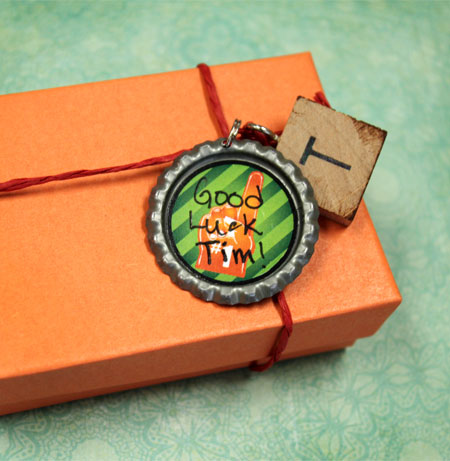 Sports Themed Bottle Cap Gift Tag