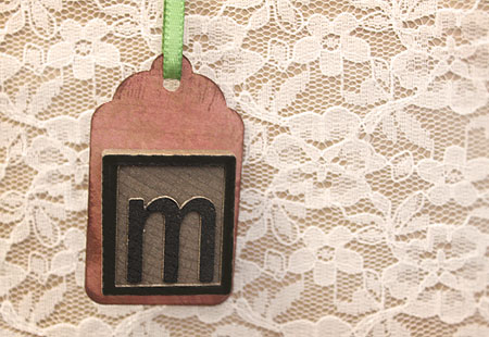 Monogram Mixed Media Gift Tag