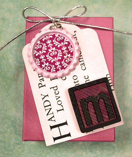 Bottle Cap Birthday Gift Tag