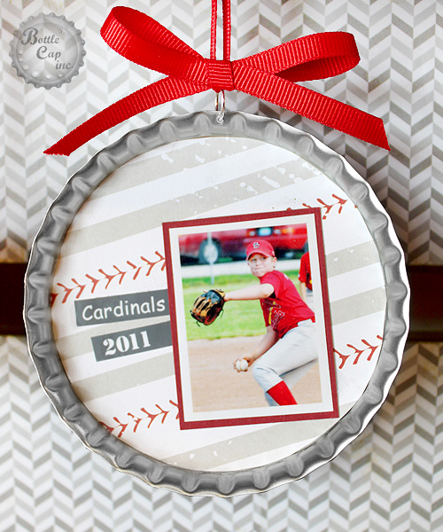 Baseball Photo Scrap Christmas Ornament