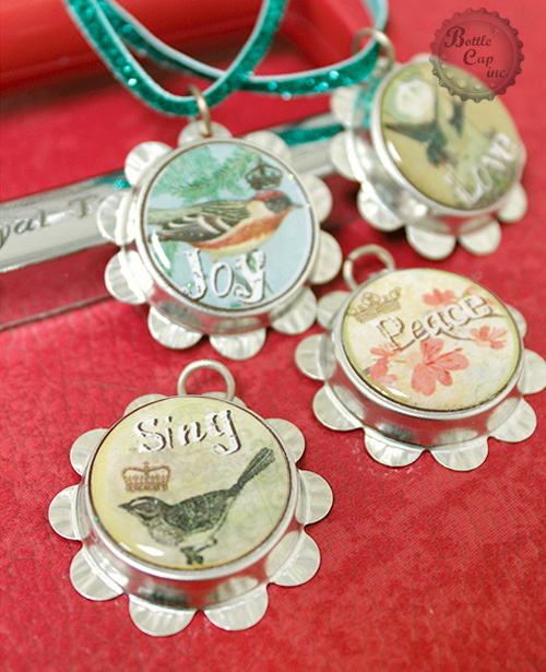 Pretty Petal Cap Ornament Set