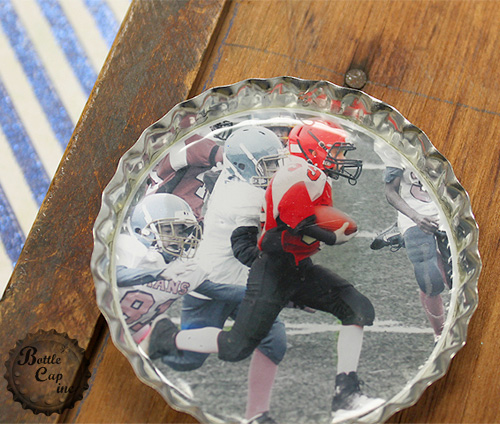 Football Photo Christmas Ornament