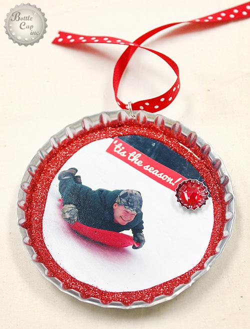 Sledding Photo Christmas Ornament