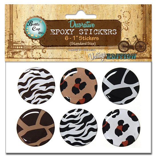 Epoxy Stickers, Animal Print