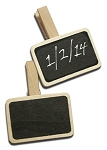 4 Chalkboard Clothes Pins