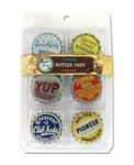 6 Vintage Standard Bottle Caps - 2