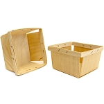 Berry Baskets 5.25x5.25 -Wood 6pc