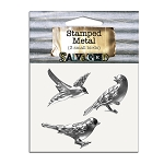 Stamped Metal -3 Small Birds