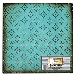 Tin Ceiling Tile -Bright Blue Rosette