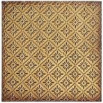 Tin Ceiling Tile -Gold Rosette