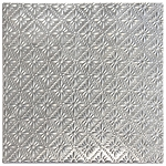 Tin Ceiling Tile -Raw Metal Rosette
