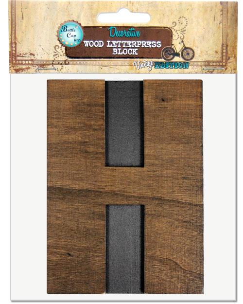 H Large Letter Press Blocks
