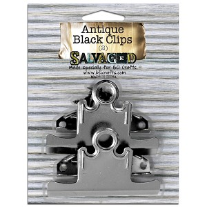 2 Antique Black Clips