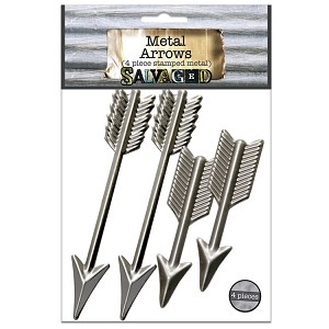 "Metal Arrows 3.5"",2.5"" -Cut and Formed 4pc"