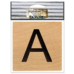 A- 2 inch Wood Alphabet Tile
