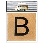 B- 2 inch Wood Alphabet Tile