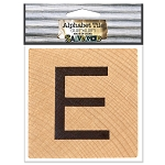E- 2 inch Wood Alphabet Tile