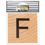 F- 2 inch Wood Alphabet Tile