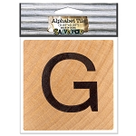 G- 2 inch Wood Alphabet Tile