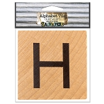 H- 2 inch Wood Alphabet Tile