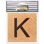 K- 2 inch Wood Alphabet Tile