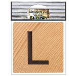 L- 2 inch Wood Alphabet Tile