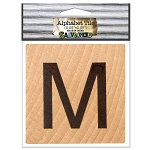 M- 2 inch Wood Alphabet Tile