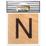 N- 2 inch Wood Alphabet Tile
