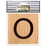 O- 2 inch Wood Alphabet Tile