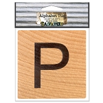 P- 2 inch Wood Alphabet Tile