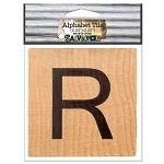 R- 2 inch Wood Alphabet Tile
