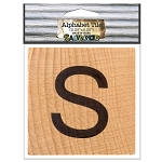 S- 2 inch Wood Alphabet Tile