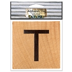 T- 2 inch Wood Alphabet Tile