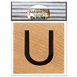 U- 2 inch Wood Alphabet Tile