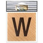 W- 2 inch Wood Alphabet Tile