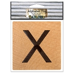 X- 2 inch Wood Alphabet Tile