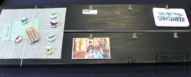Large Wood Pallet Magnetic Message and Photo Display Board