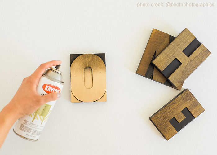 Letter Press Block Home Decor Project