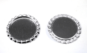 Chrome Bottle Caps Flattened