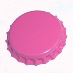 Hot Pink Bottle Caps