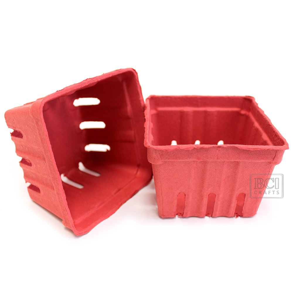 Berry Baskets Red 10pc