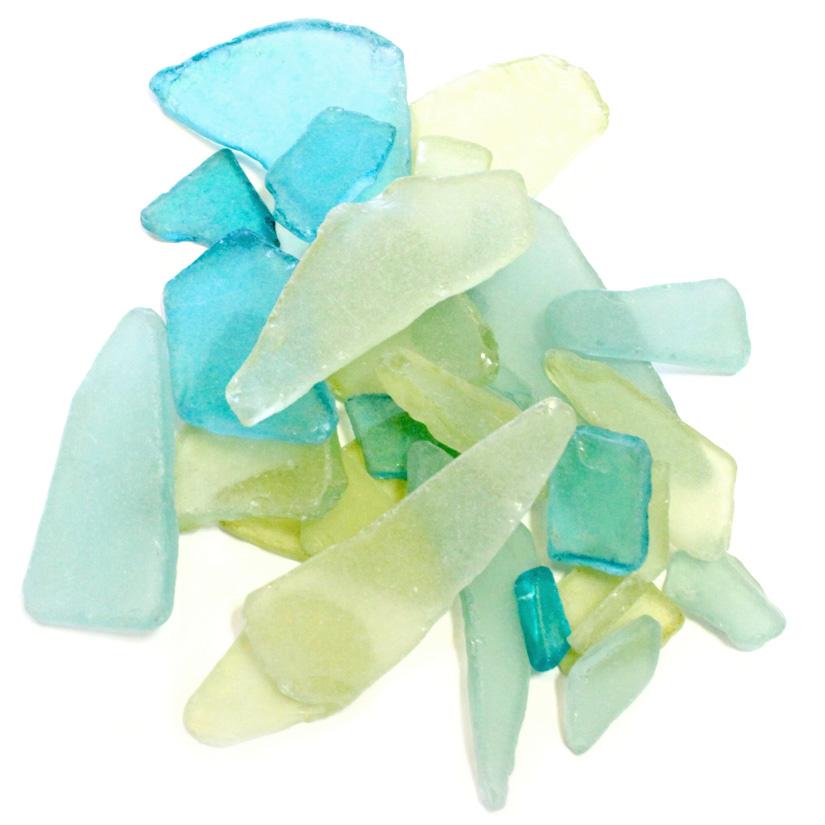 Sea GlassGreen Yellow Aqua Sea Glass MixCraft /& Decor