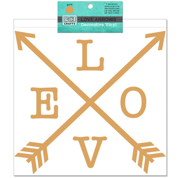 Vinyl Love And Arrows Gold