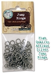 Jump Rings 8mm - Antique Silver, 100