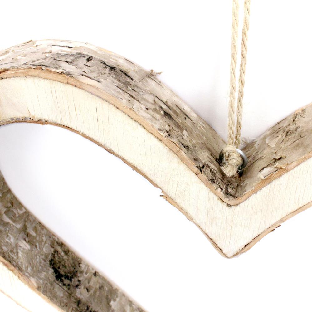 Bark Wood Large Hanging Heart