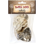 Bark Wood Pieces -Hearts 4pc