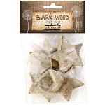 Bark Wood Pieces -Stars 4pc
