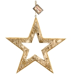 Bark Wood -Large Hanging Star