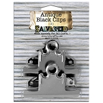 Screw On Clips -75mm Antique Black 2pc